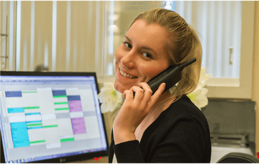 Staff Member Talking on Phone