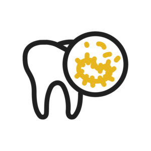 Icon of Tooth Damaged By Decay