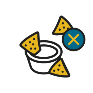 Chips and Salsa with an X icon
