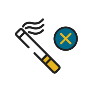 Cigarette with an X Icon