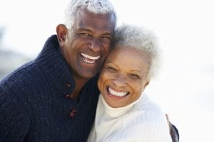 Mature African American Couple Embracing